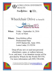 Wheelchair Drive flyer 2016
